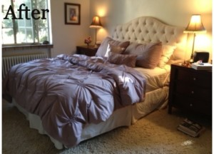 Bedroom redesigned with warmth and sensuality.